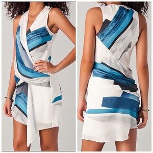 Helmut Lang blue and white dress, 4